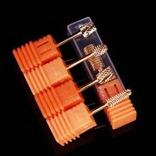 Foret à ongles doré ponceuse à ongles outil de lime à ongles Multi taille ponceuse électrique bloc tête de meulage outil de remplacement dart des ongles