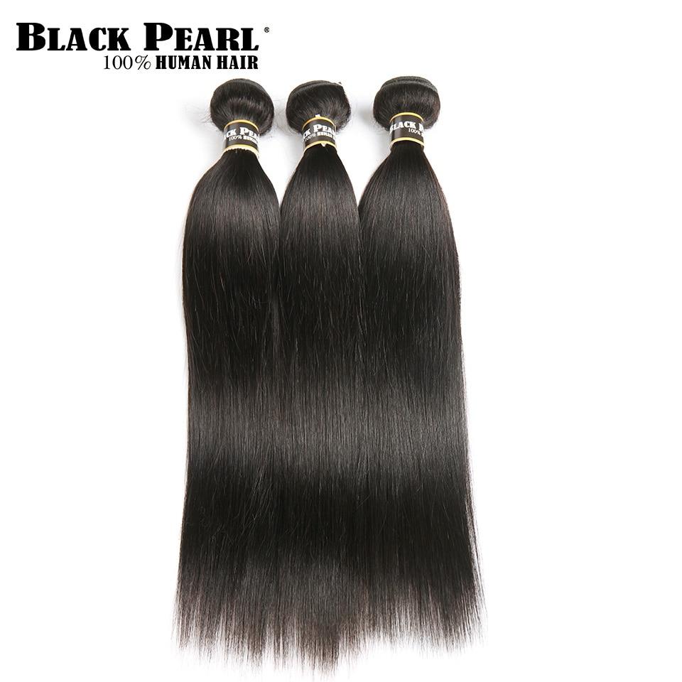 Black Pearl Pre-Colored Peruvian Straight Hair Weave 3 Bundles Human Hair Bundles Deal 300g  Hair Extensions Non-Remy