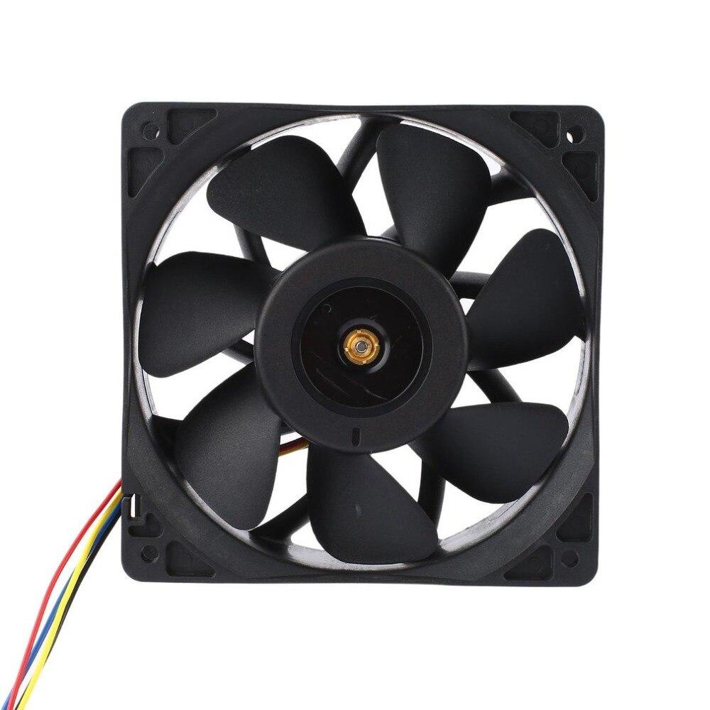 6000 RPM DC12V 2.7A minero ventilador de refrigeración 4-Pin Conector sin escobillas de refrigerador para Antminer Bitmain S7 S9 fácil instalación