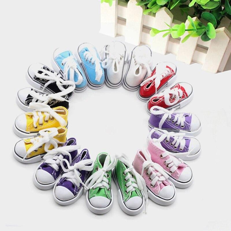 1 par de zapatos de tela vaquera para muñeca de juguete, Mini zapatos para muñeca Sharon, botas para muñeca, accesorios para muñecas, superventas, 7,5 cm