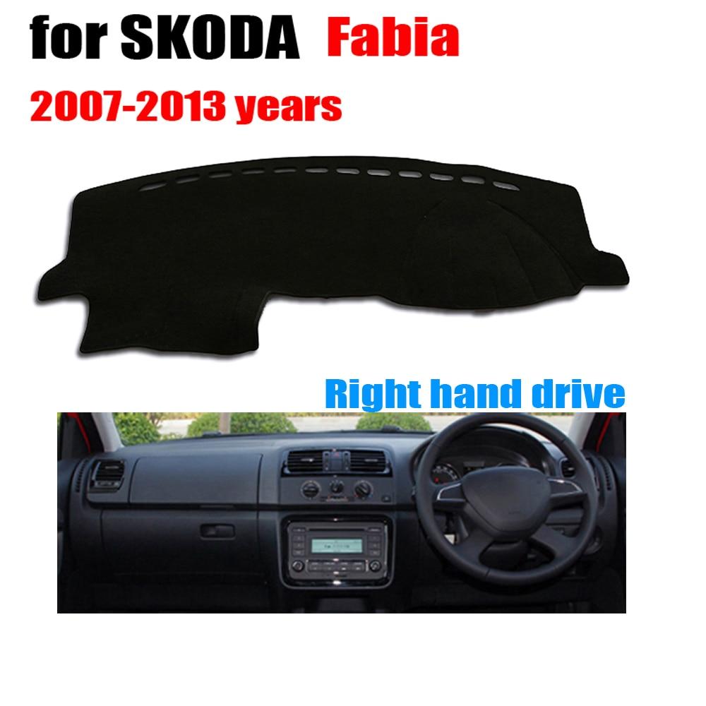 Car dashboard cover mat For SKODA FABIA 2007-2013 Right hand drive dashmat pad dash mat covers auto dashboard accessories
