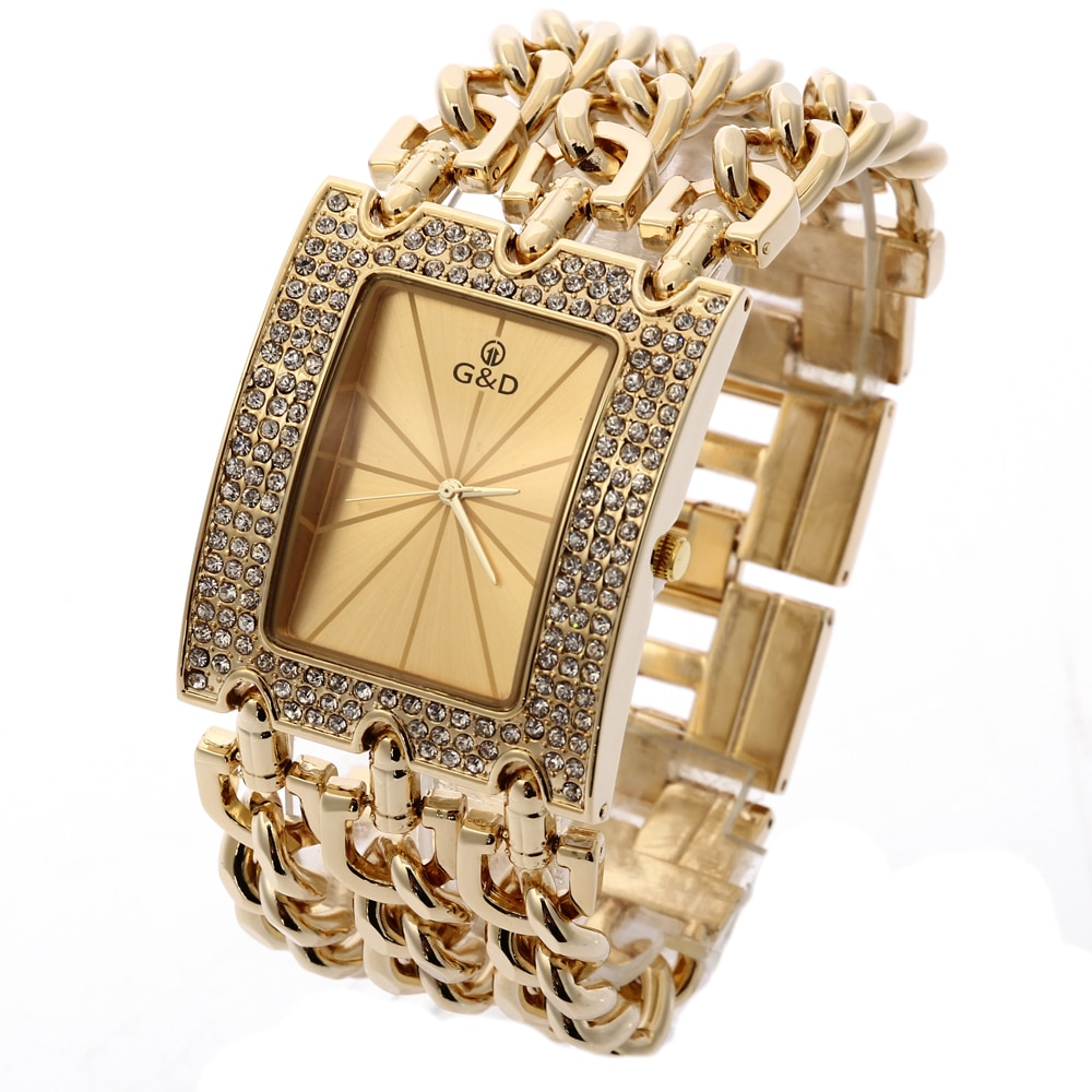 G & D Luxus Marke Frauen Uhr 2019 Gold Quarz Armbanduhr Damen Armband Uhren Relogio Feminino reloj mujer dropshipping Geschenk