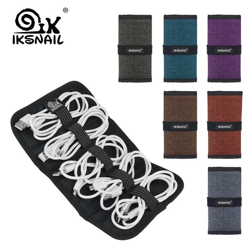 IKSNAIL образец портативный кабель для хранения гарнитуры чехол водонепроницаемый противоударный Наушники цифровой USB кабель Сортировка Путешествия вставки сумки