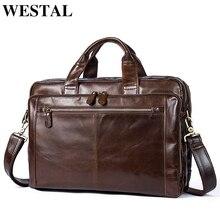 WESTAL Business voyage sac en cuir véritable hommes sac pour bagages sacs de voyage bagages à main maquillage sac valise et voyage fourre-tout 9207