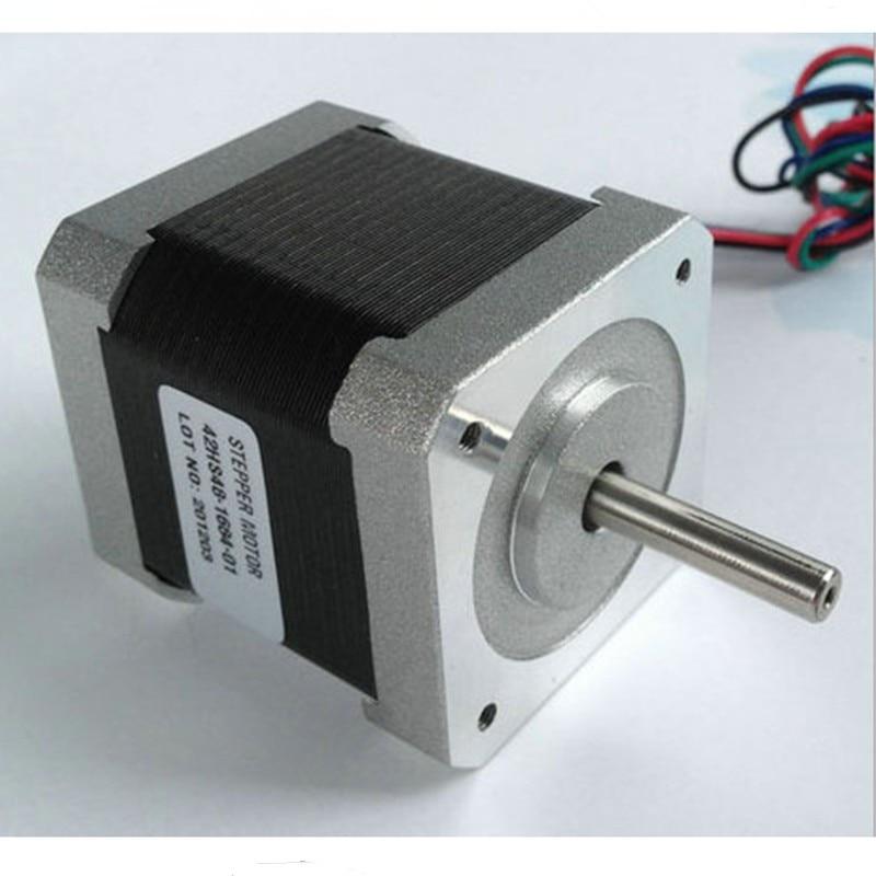 ¡Nema 17 paso a paso Motor 48mm 2.5A 0.5NM 71oz! en 42HS48-2504 1,8 grados Nema17 Stappenmotor 4-plomo para impresora 3D