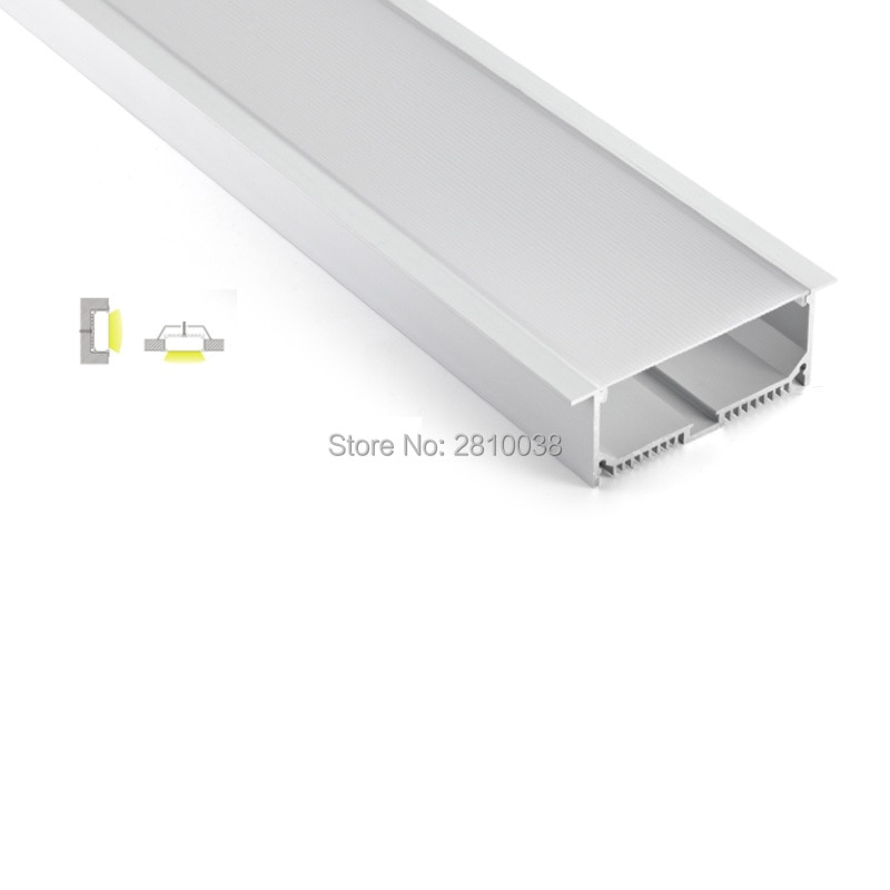 100 X 2M Sets/Lot Recessed wall aluminum led light profile super large T style led aluminium channel for embedded wall light