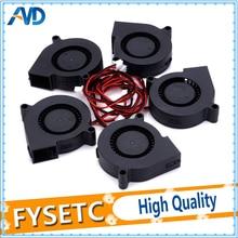 5 pièces 12V cc 5015 50x50x15mm soufflage Radial ventilateur de refroidissement pour imprimante électronique 3D pièces manchon roulement longue durée de vie pour Anet A8 A6