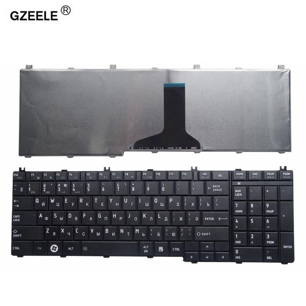 Русская клавиатура GZEELE для ноутбука toshiba Satellite L670D L675D L655D C650D L750 L750D L755D L760 L770D L775 RU, черная Раскладка