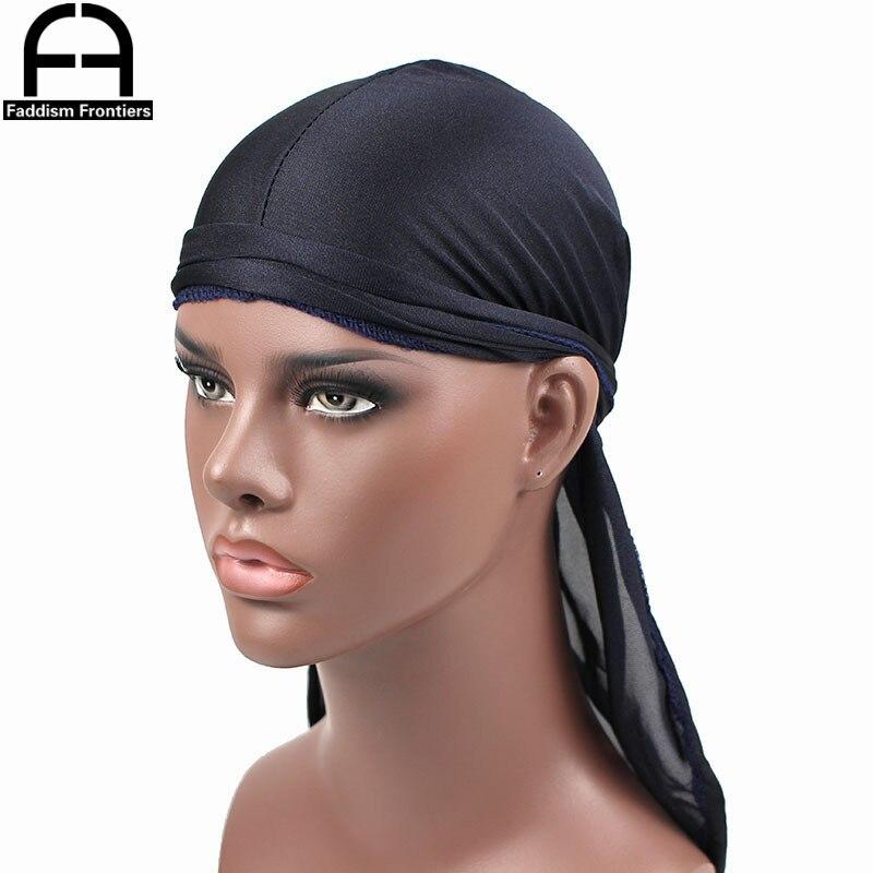 Новая мода мужские атласные дураги Бандана тюрбан шляпы парики дышащий дураг головной убор для байкеров головная повязка пиратская шляпа а...