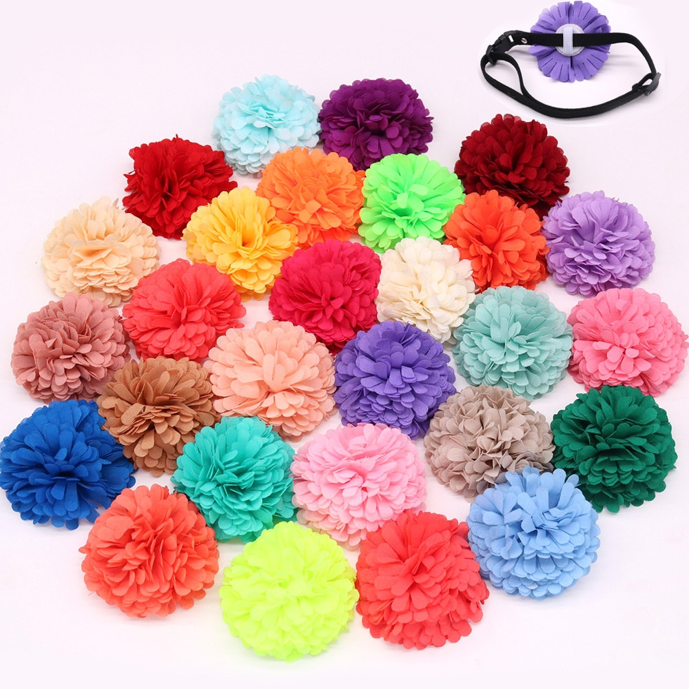 50PCS Pet Puppy Dog Cat Cute Collar Fower Charmsfor Holiday&Wedding Dog Collar Accessories Dog Bows