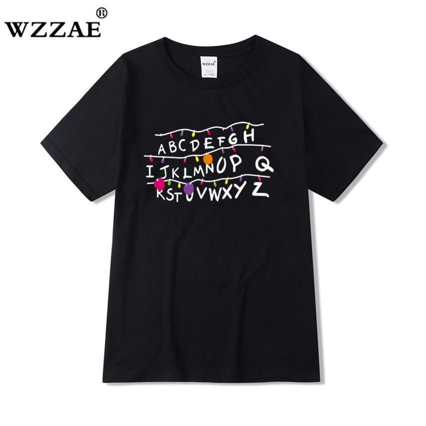 Nuevo diseño de programa de televisión extraño cosas que los hombres T camisa 2019 100% de algodón de manga corta de los hombres de moda camiseta de hip hop camisetas envío gratis