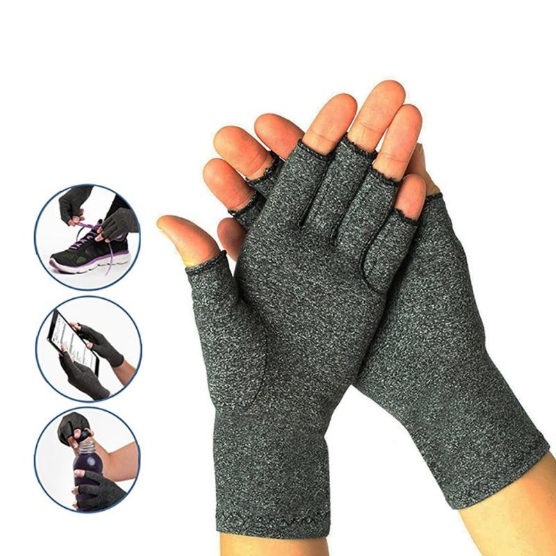Half finger cycling gloves Arthritis pressure health gloves ash high elastic breathable anti-edema rehabilitation riding gloves