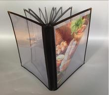6, 8, 10, 12, 14 Page 12, 16, 20, 24, 28 couvertures de Menu de Restaurant transparentes, convient au papier de format A4
