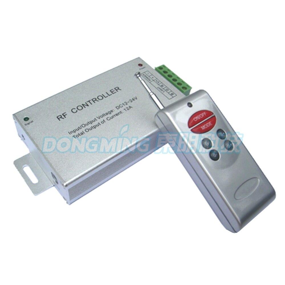 Controlador remoto RGB 6 teclas 288 W DC12V inalámbrico RF controlador de aluminio para SMD 5050 tira de luces led envío gratis