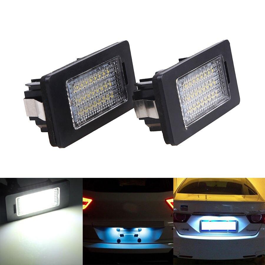 POSSBAY 12V LED License Number Plate Light for BMW E82 E88 E39 E60 E60N E61 E70 E71 E90 E90N E91 E92 E93 M3 E46 CSL Taillight