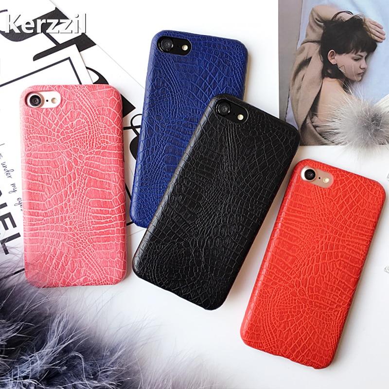 Kerzzil винтажный мягкий чехол с принтом крокодиловой змеи для iPhone 7 6 6S 8 Plus, задняя крышка из искусственной кожи для iPhone X 6S 7 10, чехол, оболочка