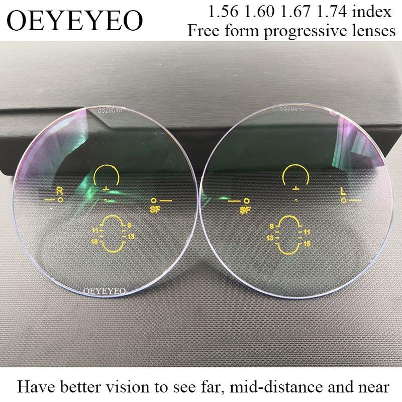 1.56 1.60 1.67 1.74 عدسات متعددة البؤر إضافية ، وصفة طبية ، قصر النظر ، مقاومة مد البصر ، عدسة قصيرة متوسطة بعيدة ، 0.50 ~ 3.50