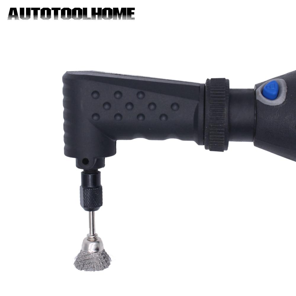 AUTOTOOLHOME, convertidor de ángulo recto, accesorio de herramienta rotativa adecuado para dremel Original 4000 3000 275, accesorios de lijadora eléctrica