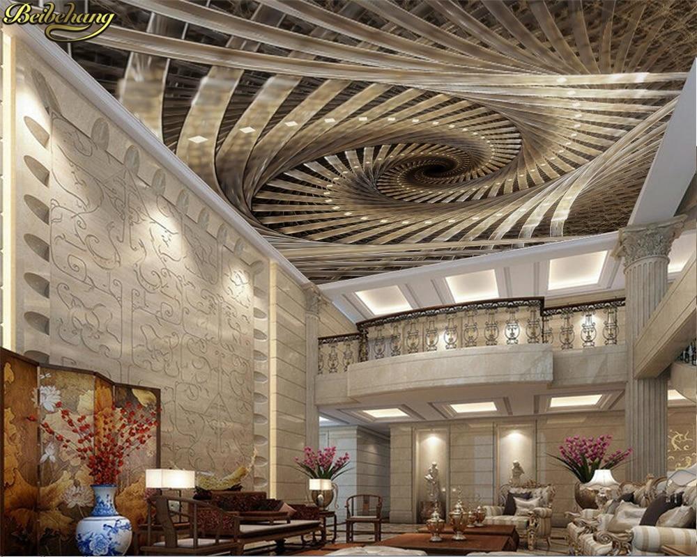 Beibehang-papel tapiz personalizado para pared, Mural 3D, espiral, arte geométrico real, Zenith,...