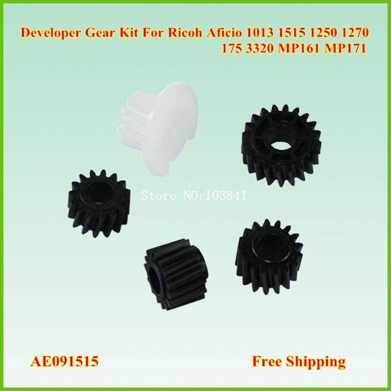 Conjuntos 1515-0175 AE091515 30 Kit Engrenagem Developer para Ricoh Aficio 1013 1515 175 3320 MP161 MP171 MP201 Imagem kit engrenagem