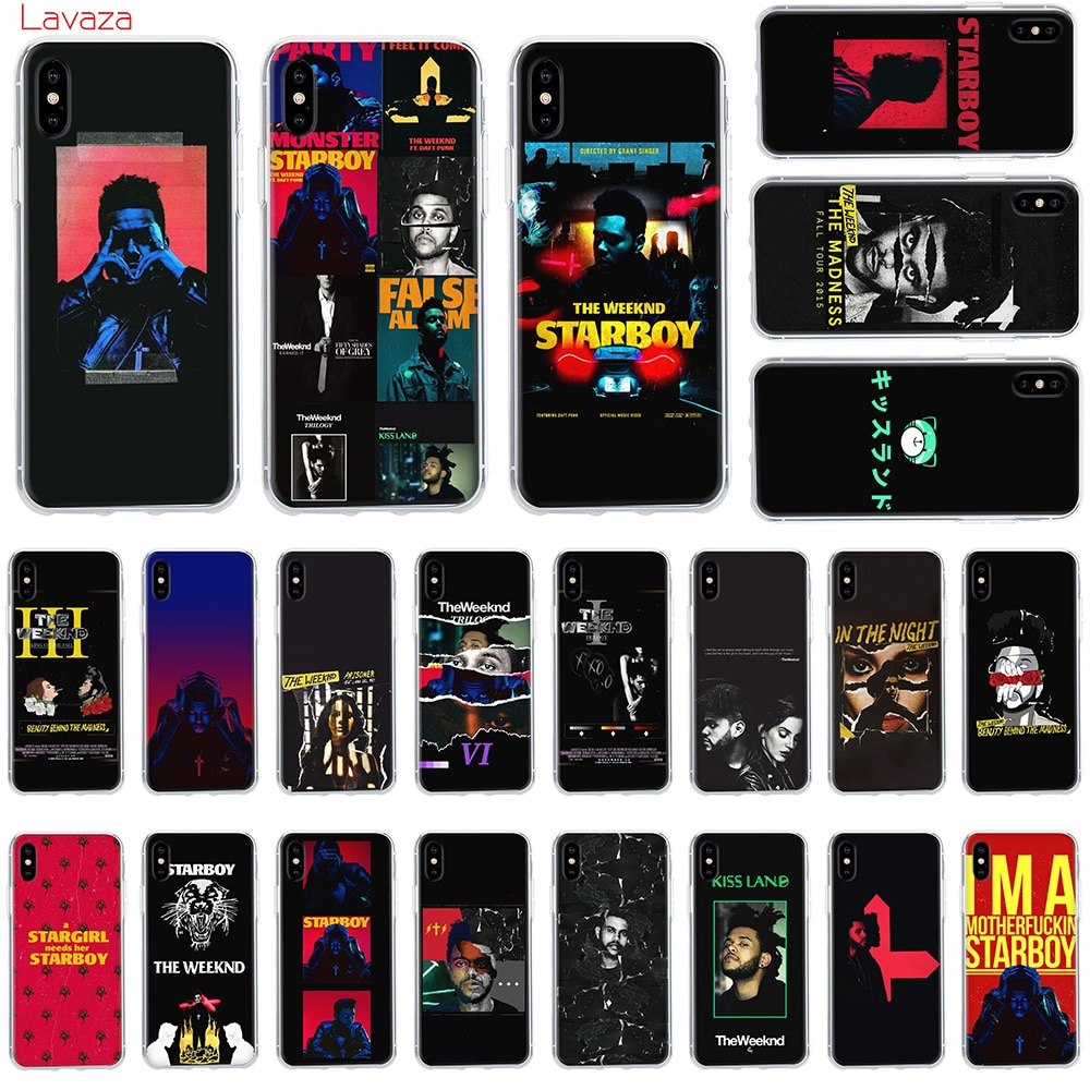 Lavaza la caja dura del teléfono Weeknd para Apple iPhone 6 6 s 7 8 Plus X 5 5S SE para iPhone XS Max XR cubierta