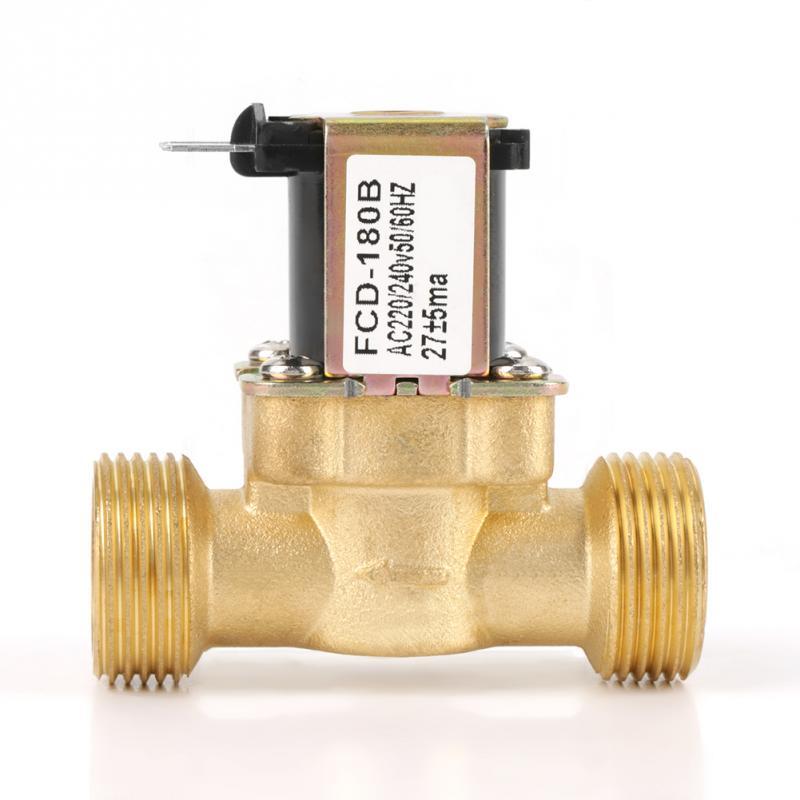 Оптовая продажа Электрический электромагнитный клапан G3/4 2-ходовой Вход воды N/C нормальный закрытый Электрический электромагнитный клапан AC 220/240 в FCD-180B