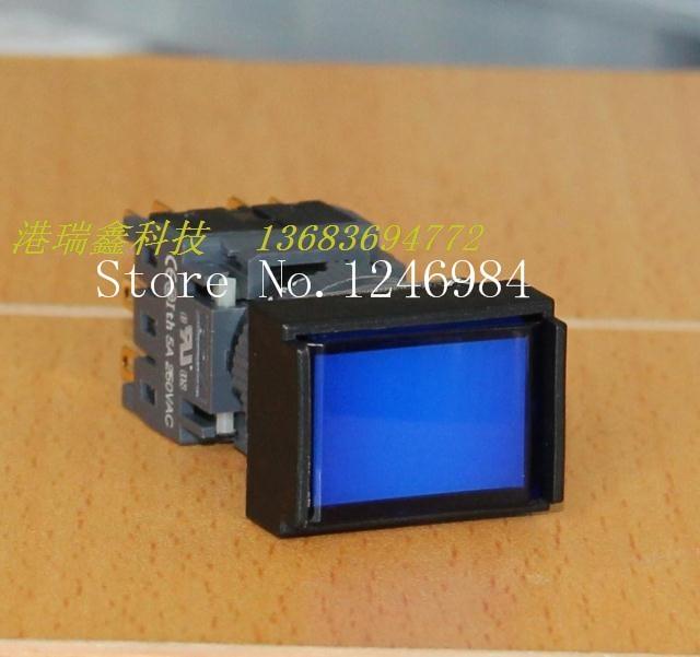 [SA]Electronic switch Jinhong 16MM F -type three-way rectangular openings with lock button switch button switch pole--10pcs/lot