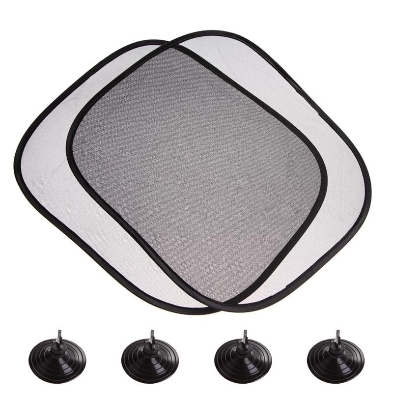 Черный Автомобильный солнцезащитный козырек, 2 шт./компл., 44*36 см
