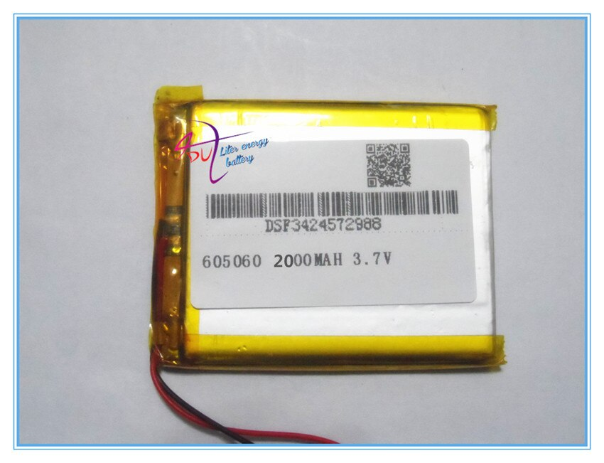 3.7 V bateria de polímero de lítio 605060 GPS eBook 2000 MAH de Energia Móvel