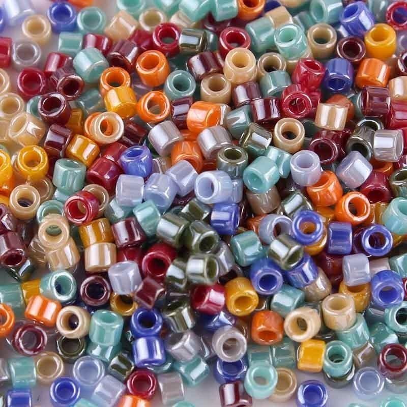 Taidian rainbow miyuki grânulo 11/0 para o acessório frisado 3 gramas/lote sobre 600 peças 1.6x1.3mm
