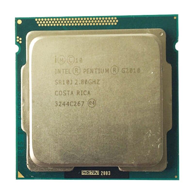 Intel G2010 dual-core CPU LGA1155/2,8 Ghz kompatibilität H81 B85 B75 motherboard Pentium Dual Core g2010 prozessor