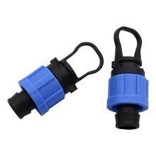 16mm Bloqueio adaptador plugs para A Agricultura Estufa irrigação Por Gotejamento Fita Fita do gotejamento mangueira de jardim conector 3 Pcs