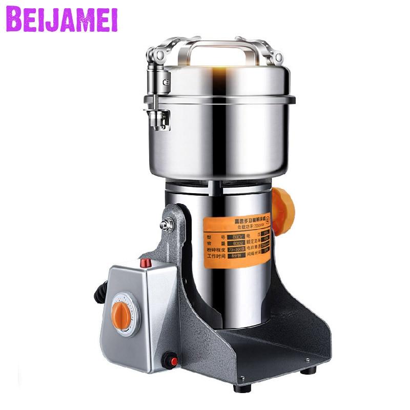 بيجامي-مطحنة حبوب كهربائية ، بهارات ، أعشاب ، حبوب ، قهوة ، طعام جاف ، دواء ، دقيق ، مسحوق ، مطحنة ، 800 جرام