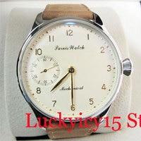 Fashional PARNIS 44mm Mechanical Men's Watch Hand Winding 6497 Movement