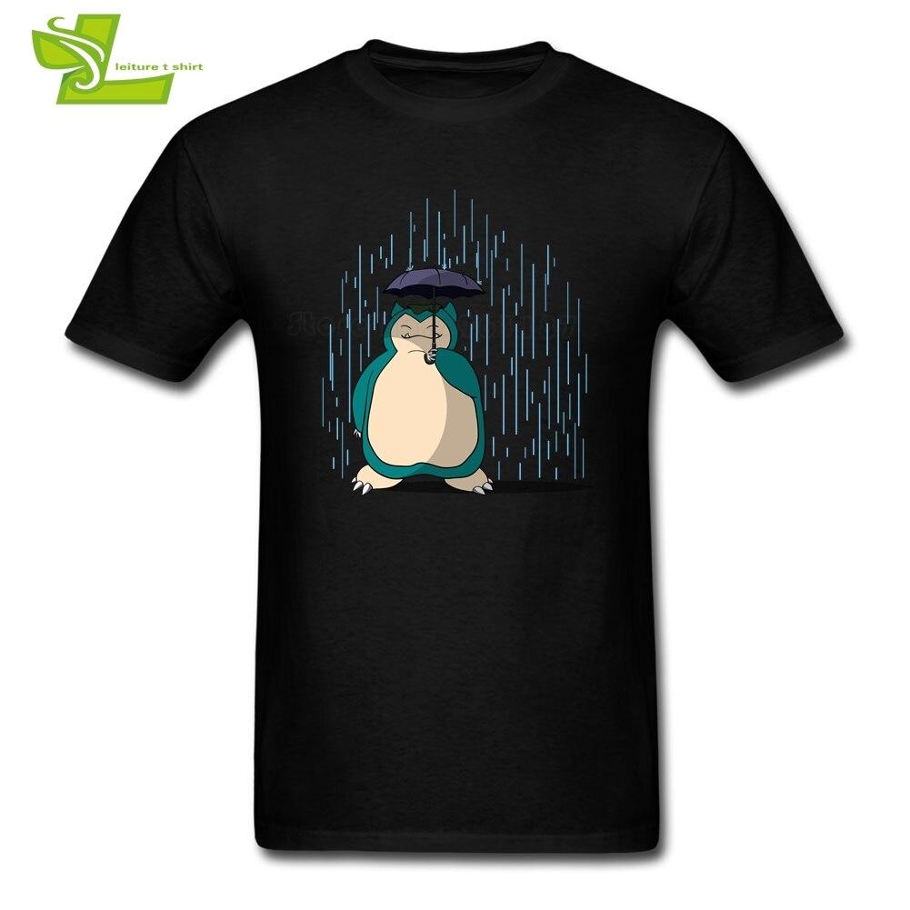 Mi vecino Snorlax Camiseta Hombre verano 100% camiseta gráfica de algodón ropa grande para adultos ropa de casa ejercicio camiseta adolescente