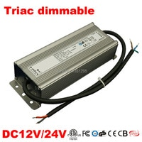 DC 12V 24V Power supply electronic transformer triac Dimmable Led Driver 25W 50W 80W IP67 alimentation 220 12V Strip Dimming