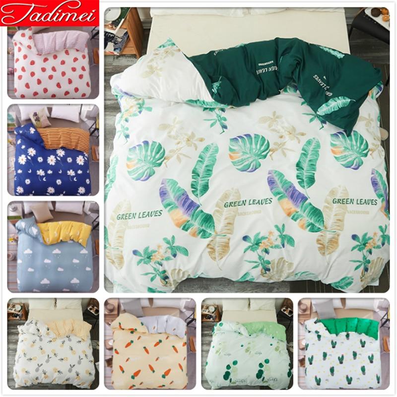 Green Leaves Pattern 1 pcs piece Duvet Cover Soft Quilt Comforter Blanket Case Bedding Bag Single Twin Queen King Size 180x220cm