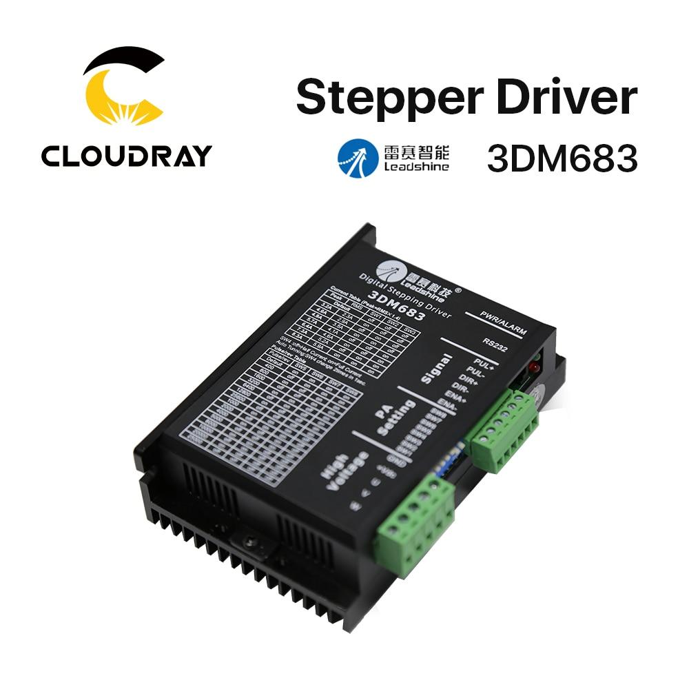 محرك محرك متدرج 3 مراحل 3DM683 Cloudray Leadshine 20-60VDC 0.5-8.3A