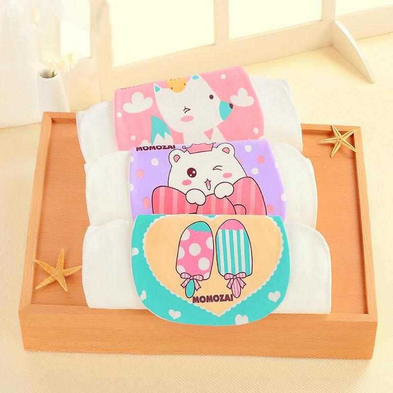 Oklady New 100% Pure Cotton Baby Sweat Towel Four layers 32*24 Infants Gauze Comfort Cute Cartoon Kids Soft Face Towel Baby