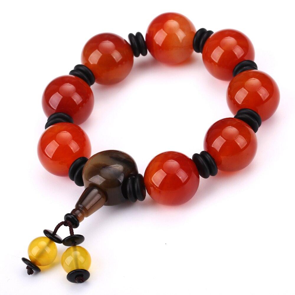 AAA Red yu Bead Male Bracelet Buddha Beads Natural Stone Jewelry Power Chakra Balance Beadslgbt Handmade Myanmar yu Bangles/