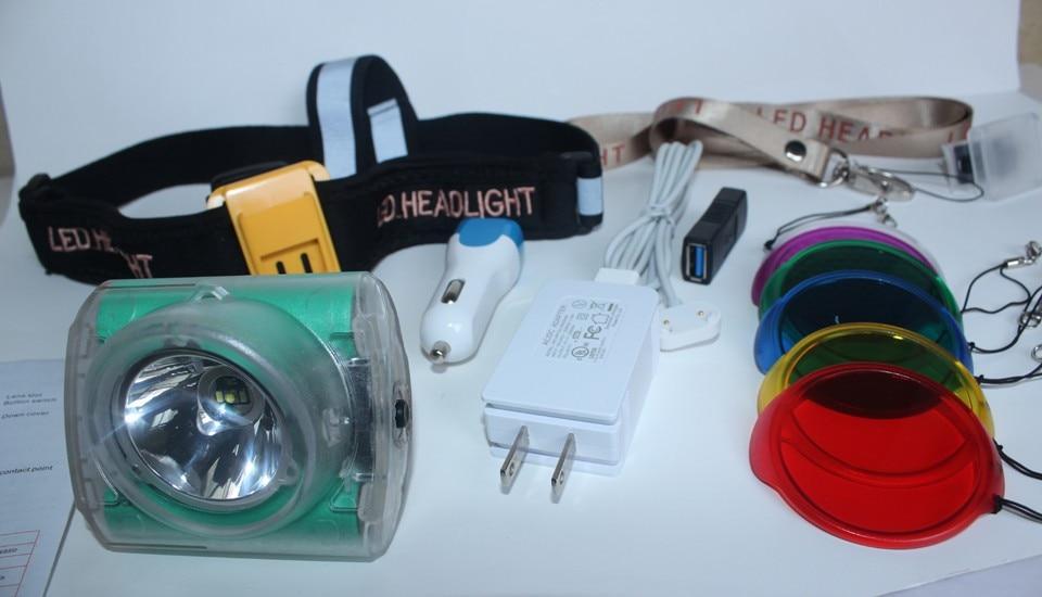 Newest Super Bright Led Headlight Cordless Light For Hunting,Mining Fishing Light Free Shipping