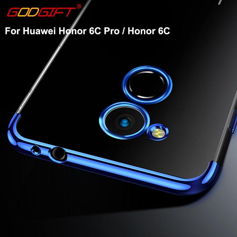 GodGift Huawei Honor 6C Pro Case Luxury Huawei Honor 6C Silicone Soft Cover For Huawei Honor 6 C Pro Back Cover Phone Cases