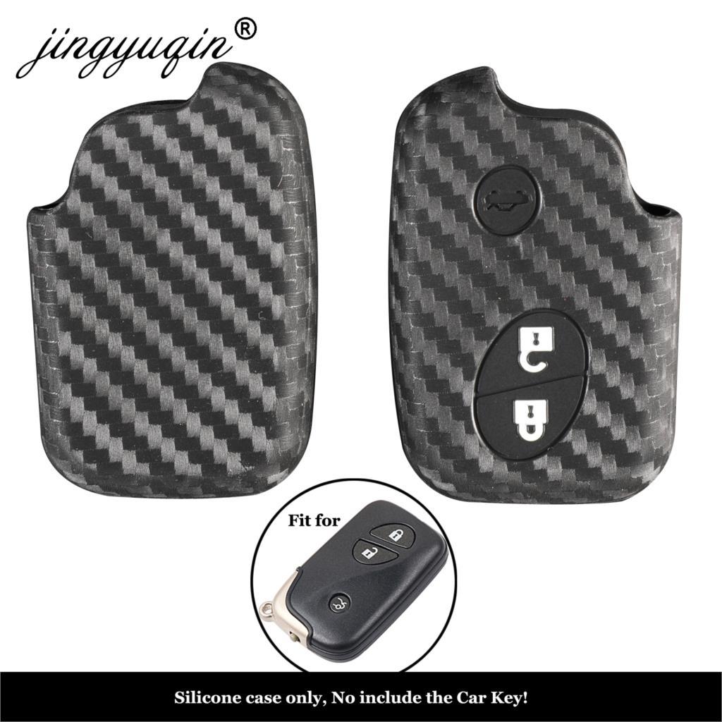 Funda de silicona jingyuqin de carbono para coche para Lexus CT200h ES...