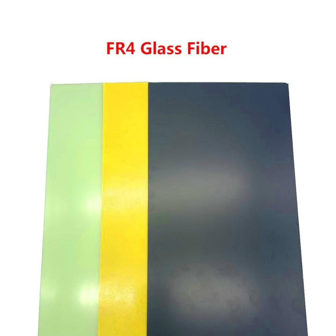 Negro amarillo fibra de plantilla de hoja de resina epoxi con fibra de vidrio de fibra de G10 Fr4 de fibra de vidrio placa Diy cuchillo mango Material 300x170mm