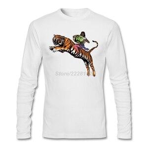 Vintage Style Men Priya on Tiger Shirts Punk Band Graphic Fabric Costumes Screen Man Hot Sale Tshirt 100% Cotton Long Sleeve