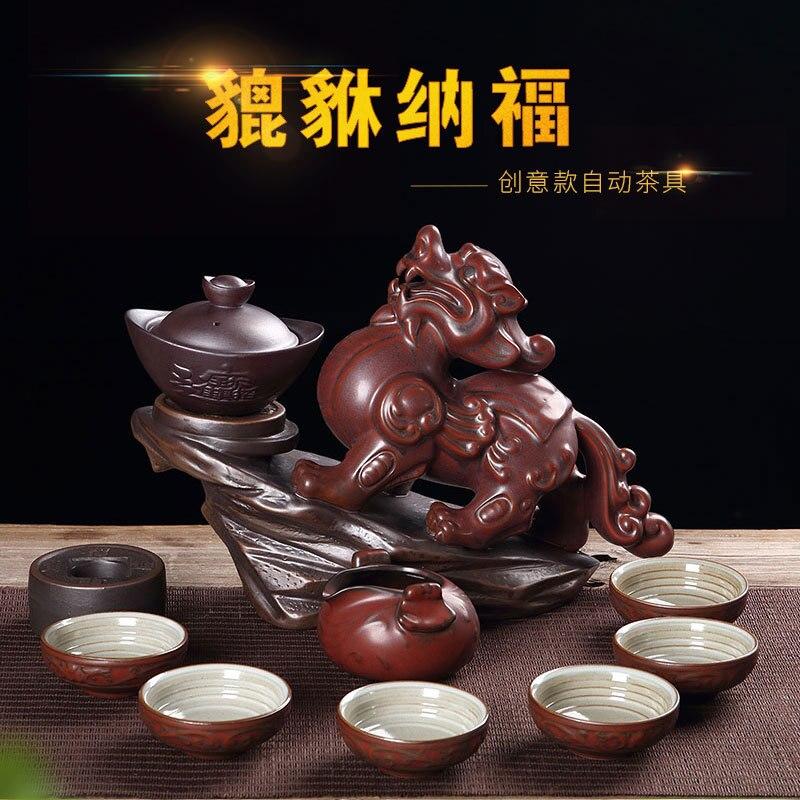Juego de té automático de Kung Fu de alto grado con envío gratis, cerámica creativa, ceremonia de té, regalo Ritual de té, venta directa de fábrica