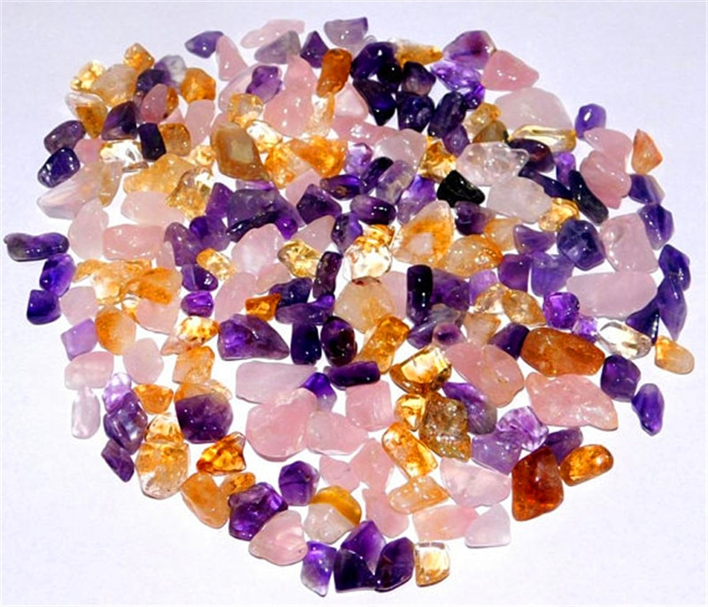 150g de envío de la gota Natural Rosa amatista citrino, piedras preciosas de cristal de Sanación reiki suelto, la piedra Multi tamaño vender