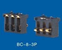 Conector de batería de resorte 3 pines 2,50mm de inclinación con localizadores 0.5A 50V cinta y carrete