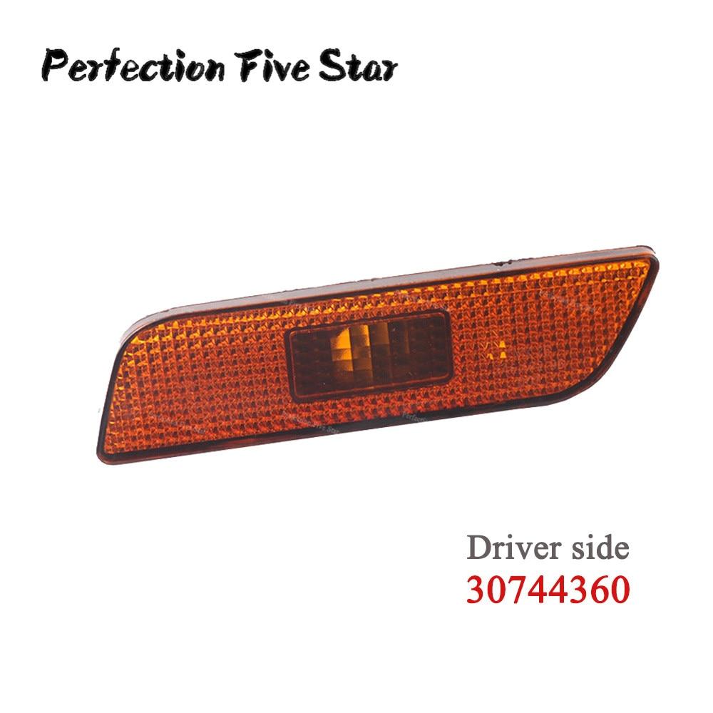 Front Left Side Marker Turn Signal Indicator Lamp Light Lens For Volvo S80 2002 2003 2004 2005 2006 30744360