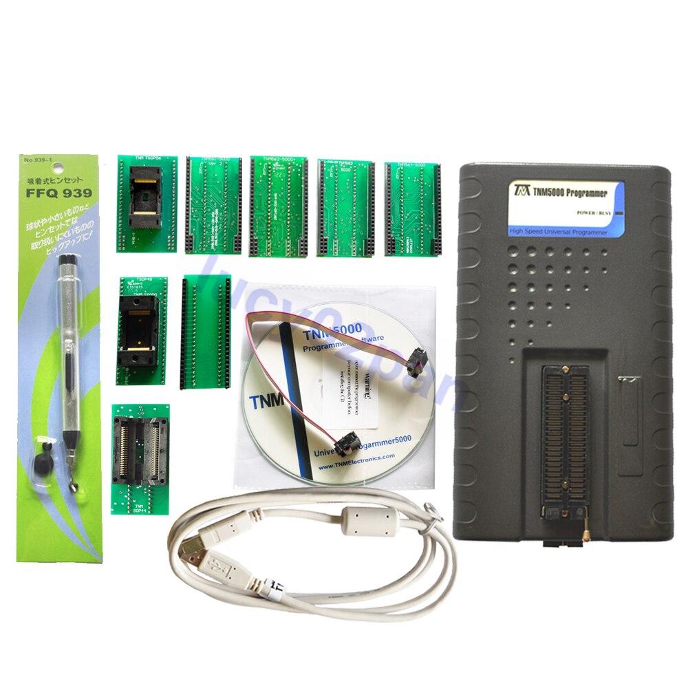TNM5000 USB EPROM programador Universal + SOP44 + TSOP48 + TSOP56 socket kit, soporte SPI de modo rápido, programador de múltiples controladores ITE